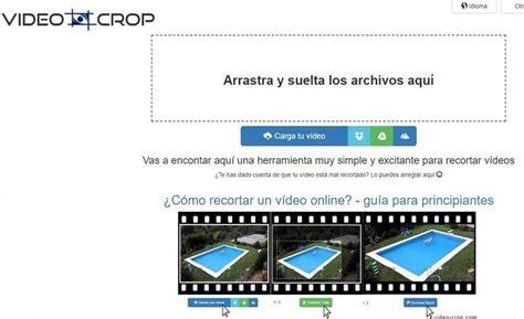 como cortar videos online cortar v 237 deos online f 225 cilmente y gratis con video crop