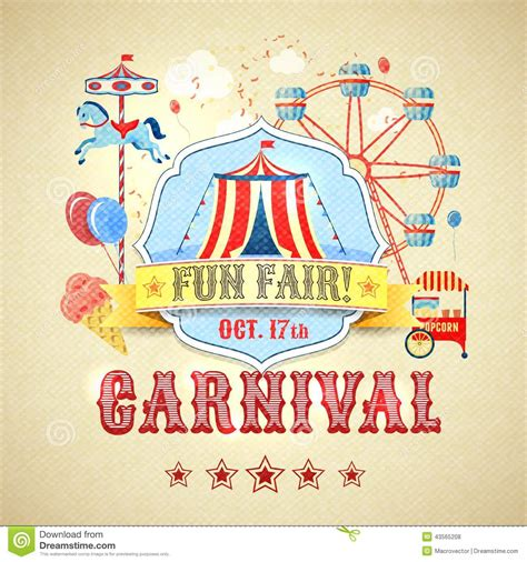 theme line vintage carnival clipart fun fair pencil and in color carnival