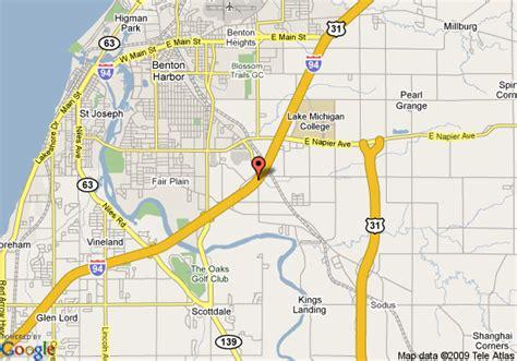 benton texas map map of inn express hotel suites benton harbor benton harbor