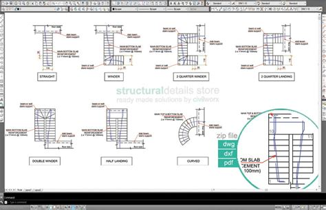 Pdf Floor Plan by All Types Of Reinforced Concrete Stairs Reinforcement Plan
