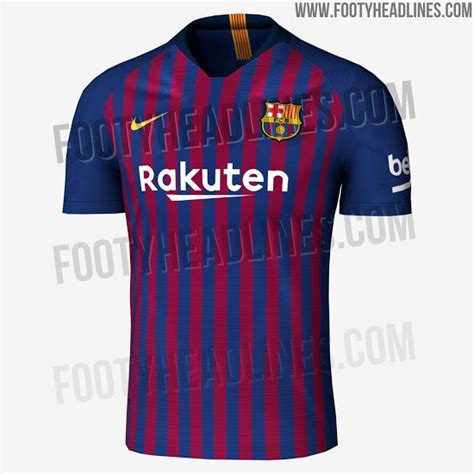 Hjersey Barcelona Home 2018 exclusive fc barcelona 18 19 home kit leaked footy headlines