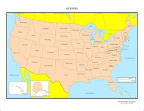 us map and states united states labeled map