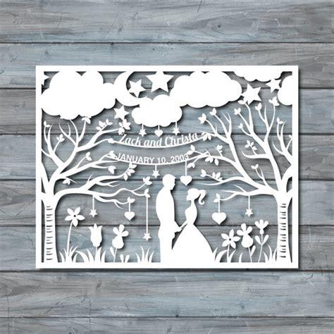 paper cut card templates wedding paper cut template paper cut templates pdf by