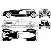 Duesenberg Model SSJ Cabriolet 1939 Blueprint  Download