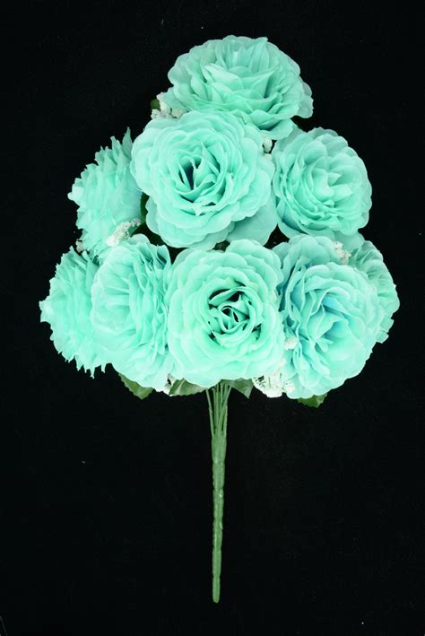 flowers by color silk flowers by color aquamarine