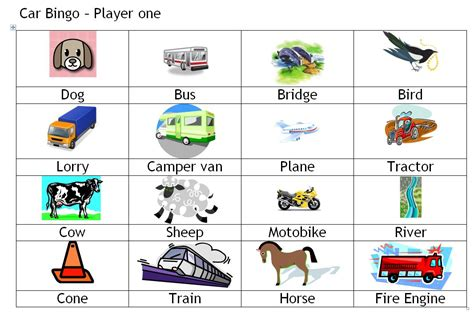 printable games car journey uk travel bingo a variation of eye spy mum in the madhouse