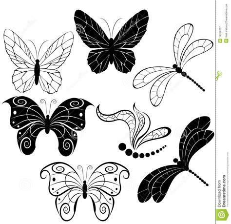 imagenes mariposas estilizadas siluetas de mariposas y de lib 233 lulas fotograf 237 a de archivo