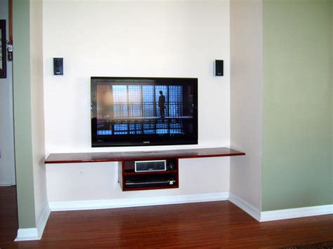 Tv On Shelf by Floating Shelf Tv In Bonus Room Projects To Try