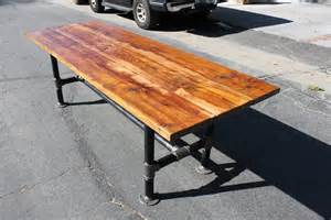 Industrial Table Rustic Reclaimed Wood Table With Industrial By