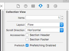 xcode collection view layout ios how can i set custom horizontal scroll for