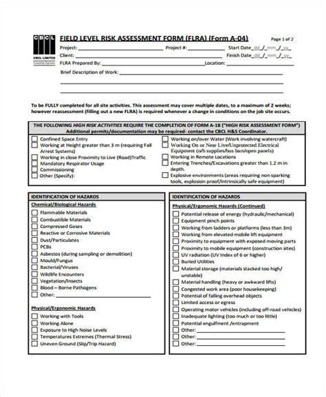 hazard assessment template job safety analysis template