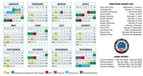rdo calendar nsw