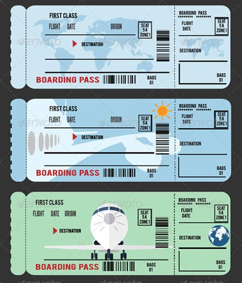 boarding pass template for word sle boarding pass 9 documents in pdf psd vector