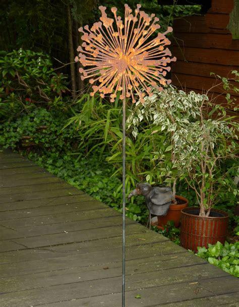 Rost Deko Garten Blume by Blume Pusteblume Metall Edelrost Rost Gartenstecker