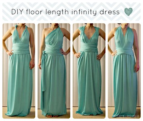 Infinity Dres Diy Floor Length Infinity Dress Diary Of A Mad Crafter