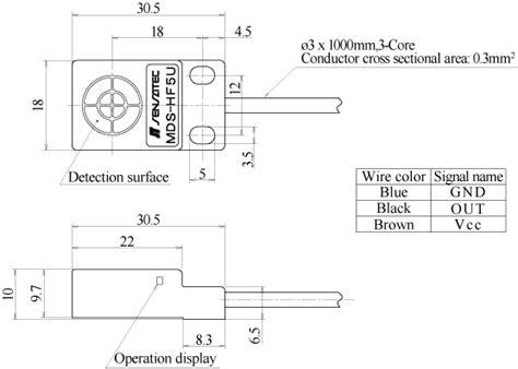 mds diagram model mds hf5u high voltage proximity sensor