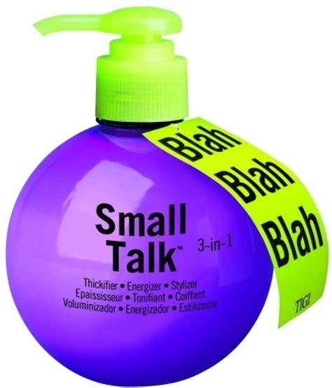 small talk bed head tigi bed head small talk blah blah 3 in 1 thickifier