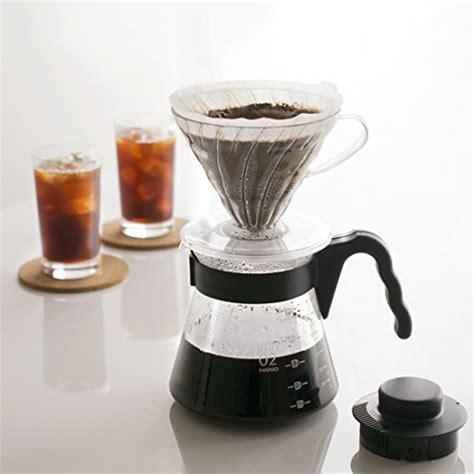 Diskon Hario V60 Vcs 02b Black Coffee Server 700 Ml hario vcsd 02b ex v60 pour coffee starter kit white kitchen in the uae see prices
