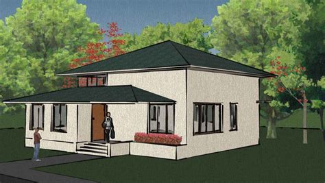 single storey house plans for a narrow garden modern house