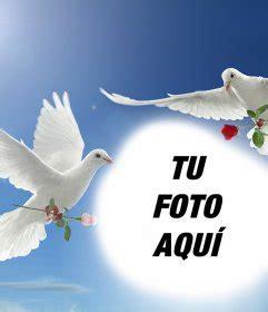 imagenes de palomas blancas gratis fotomontaje de la paz con dos palomas blancas volando