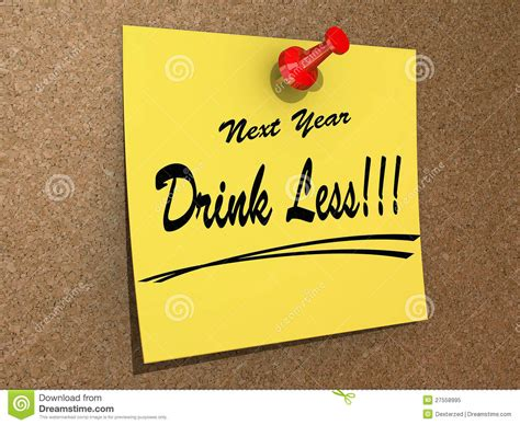 next year resolution drink less royalty free stock photo