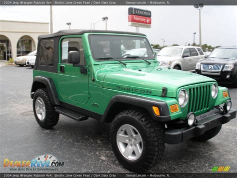 Jeep Rubicon Lime Green 2004 Jeep Wrangler Rubicon 4x4 Electric Lime Green Pearl