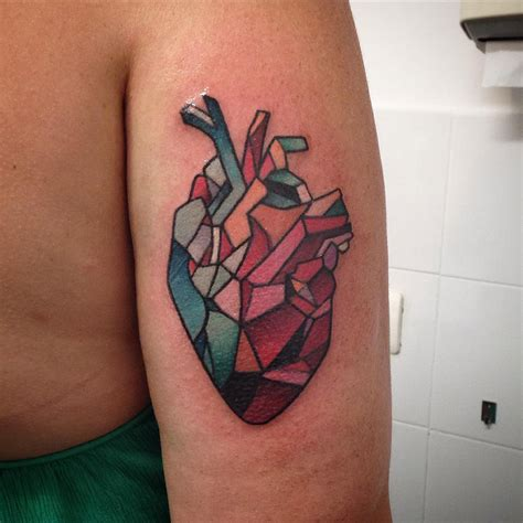 geometric heart tattoo cubist best design ideas