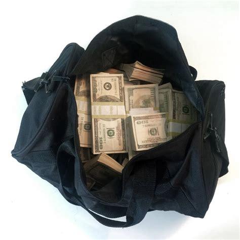 in a bag 500 000 prop money bundles in a duffel bag the green
