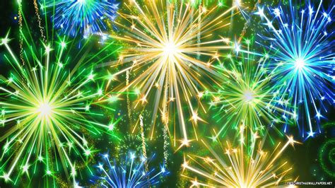 new year s colors new years fireworks 1366x768 wallpaper