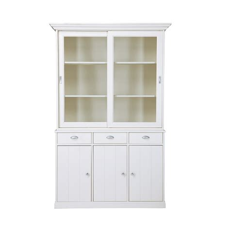 White Display Cabinet With Glass Doors Cobham Glass Display Cabinet In White Pine With 5 Doors Display Cabinets Furnitureinfashion