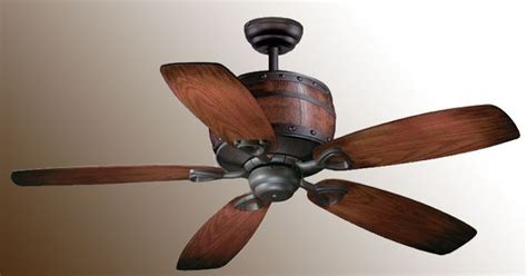 wine barrel ceiling fan rustic light fixture with fan vaxcel cabernet ceiling