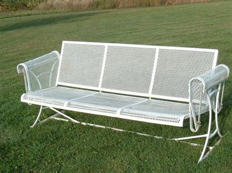 wrought iron mesh patio furniture vintage wrought iron mesh patio furniture swinging glider