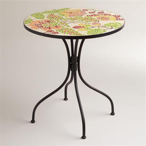 Mosaic Bistro Table Floral Cadiz Mosaic Bistro Table World Market