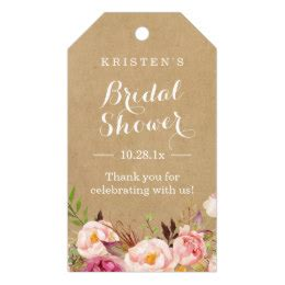 thank you for bridal shower gift sle gift tags favor tags zazzle