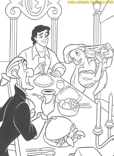 Ariel se peina en la mesa - Dibujos Disney