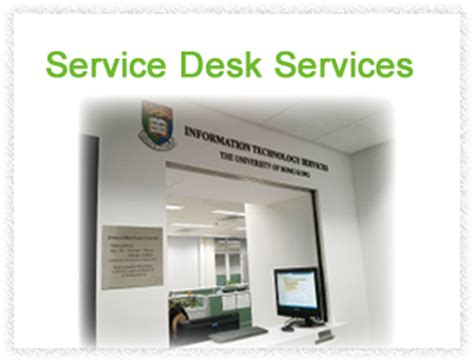 Its Service Desk by Service Catalogue Information Technology Services The