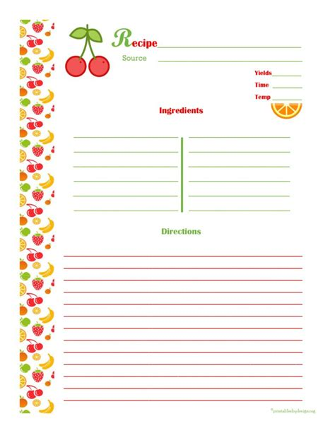 fillable recipe card template fillable recipe card template 6 best sles templates