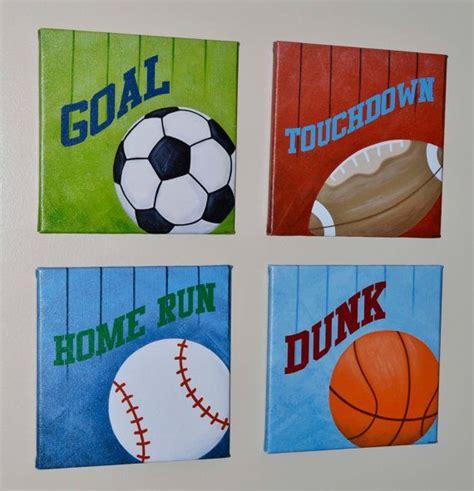 wall decor sports set of 4 canvas art sports room decor sports wall art print original painting canvas wall art