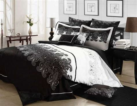 black and white ombre 8 piece comforter set bedding