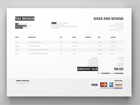 Templates For Xero | xero invoice template invoice exle