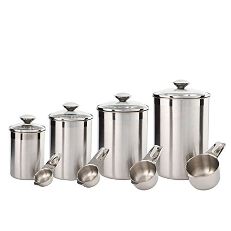 kitchen canisters stainless steel silveronyx canister set stainless steel beautiful