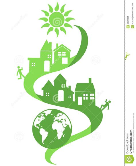 Eco Friendly House Plans natural community eco background stock vector image