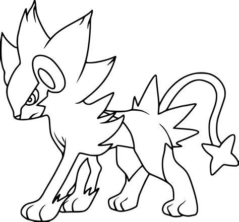 Coloriage Luxray Pokemon 224 Imprimer Sur Coloriages Info