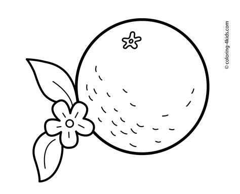 orange fruit coloring pages face coloring pages
