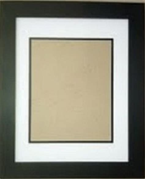 black picture frames with white matting amazon com 18x24 white black double mats with 1 1 4