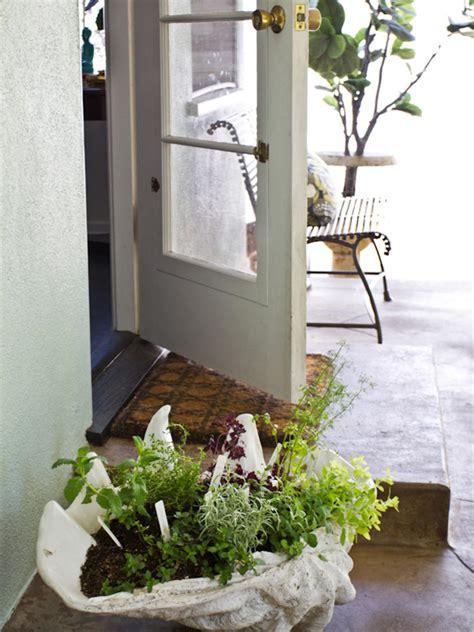 container herb garden design create a stunning herb container garden hgtv