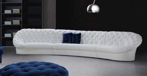 0618 cosmopolitan sectional sofa in white fabric by vig