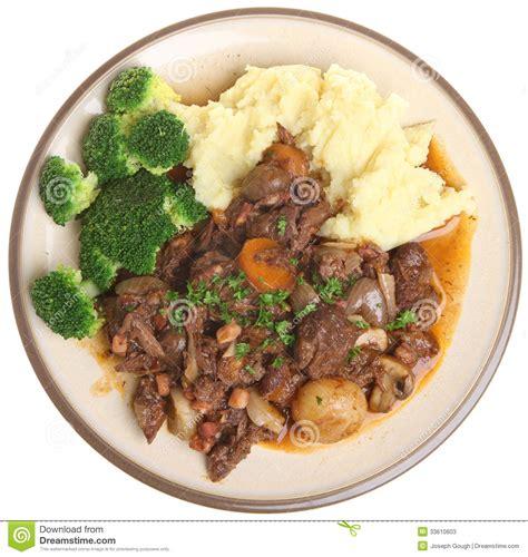 beef bourguignon dinner beef bourguignon stew dinner stock photos image 33610603