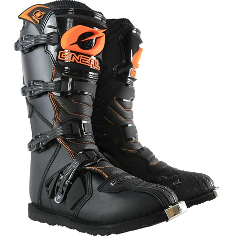 black dirt bike boots oneal 2017 mx rider boot dirt bike black orange