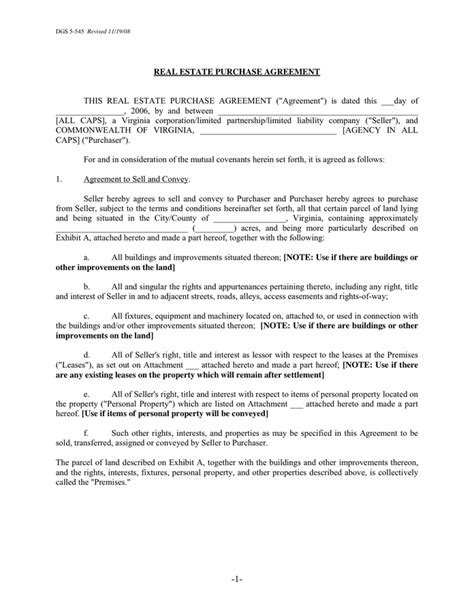 real estate purchase agreement real estate purchase agreement in word and pdf formats